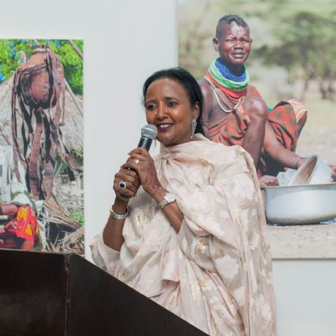 Ambassador Amina Mohamed, the winner of the AWEA, 2018.