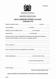 Kenya Secondary School Leaving Form Free Download
