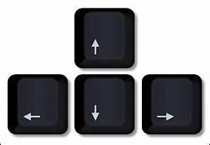 Keyboard navigational arrows