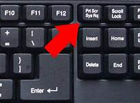 Location of the print screen button on the computer keyboard