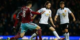 Manchester united against West Ham in an EPL clash