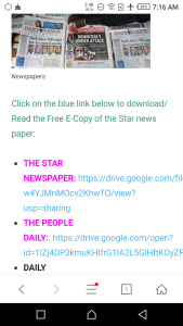 How to locate the blue links on shared documents