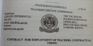 TSC CONTRACT FOR EMPLOYMENT OF TEACHERS