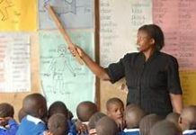 File photo: A Kenyan teacher in class