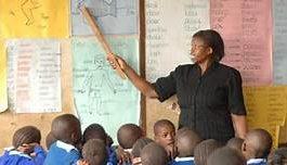 File photo: A Kenyan teacher in class