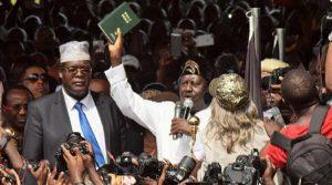 Miguna Miguna Swearing in Raila Odinga as president
