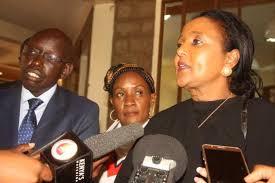 File Photo- Education CS Amina with PS Belio Kipsang at a press conference