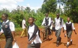 File Photo- Students walking home from school
