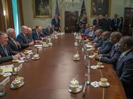 File photo- Top kenyan officials on a New York trip, recently