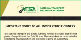 NTSA: How to acquire an E- Sticker