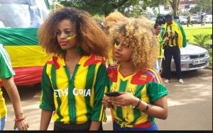 Ethiopia fans at Kasarani, today