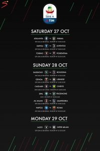 Serie A fixtures