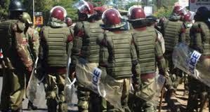 Kenya Defence Forces Officers in action.