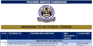 TSC Tenders