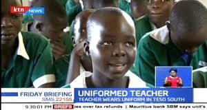Uniformed kenyan teacher