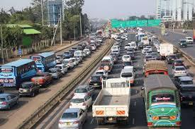 traffic at thika super high way kenya