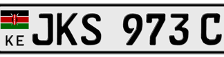 A Kenyan Motor Vehicle's Number Plate