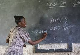A teacher in Kenya. TSC has rolled out the third phase of its delocalization exercise