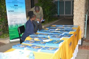 Display of Moran Publishers' latest book.