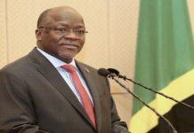 File photo; Tanzanian President, Hon. John Pombe Magufuli, at a past event.