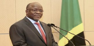 File photo; Tanzanian President, Hon. John Pombe Magufuli, at a past event.