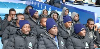 File Photo- Gor Mahia Players in Everton recently for the Sport Pesa Challenge Cup
