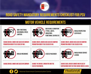 NTSA- Motor Vehicle requirements