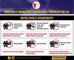 NTSA- Motor Vehicle requirements
