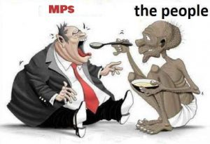Cartoon (Courtesy)- The ever unsatisfied MPs