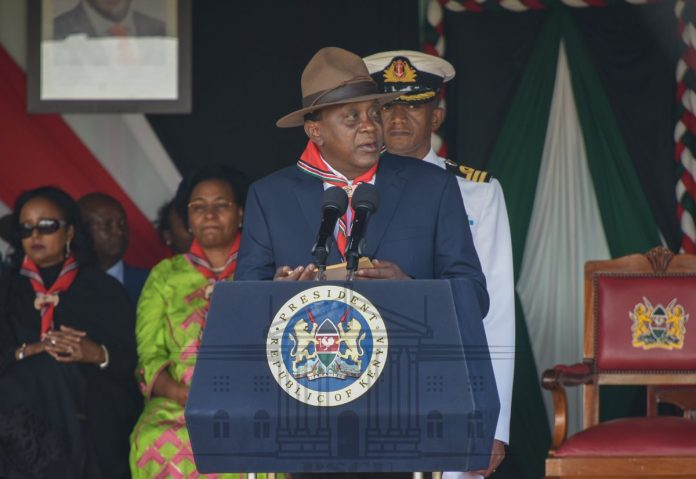 President Kenyatta during the Scouting Meet in November, 2018. TSC has moved to implement the President's directive to have teachers appointed as Scouts Coordinators in the 47 counties.