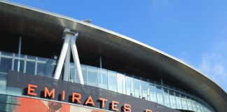 The Emirates stadium which is Arsenal's Home ground