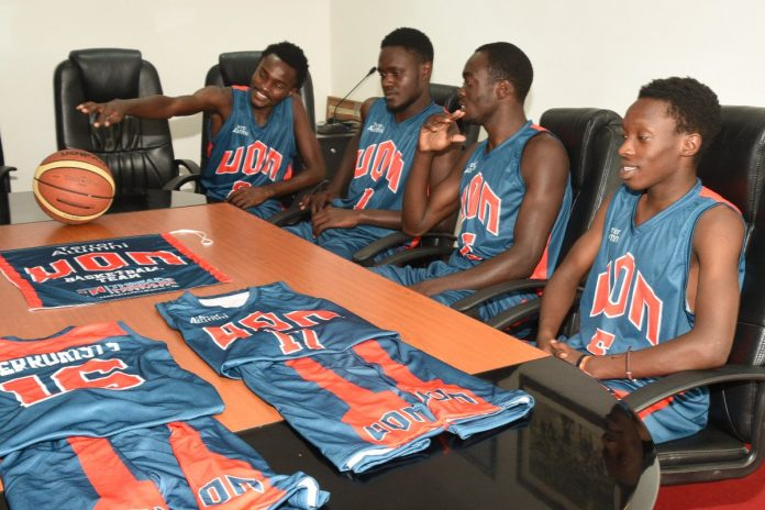 University of Nairobi Basketball Team's new kits