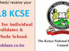 2018 KCSE results