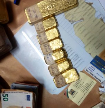 Bundles of fake currencies confiscated from the the suspects