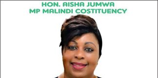 Photo- Hon Aisha Jumwa