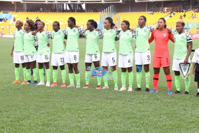 Nigeria's women soccer team, the Super Falcons. They retained the AWCON trophy after beating South Africa 4-3 on post match penalties