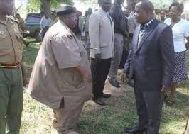 Interior Cabinet Secretary, Dr. Fred Matiang'i, meets a Chief in this file photo. All Chiefs and their Assistants have been instructed to ensure all form ones report to school (Photo Courtesy)