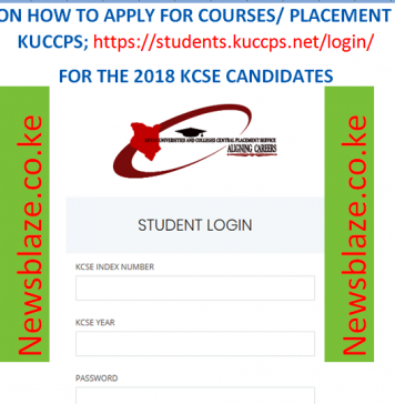 KUCCPS guide for the 2018 KCSE candidates