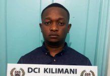 Leonard Munyaka Wambua- A dangerous house breaker and burglar arrested in Lang'ata, Nairobi, yesterday