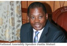National Assembly Speaker, Hon Justin B.N Muturi
