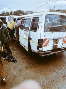 A Public Service Vehicle, PSV, commonly called a 'Nissan' or 'Matatu'. The NTSA has issued a stern warning to owners of vehicles that are not duly registred.