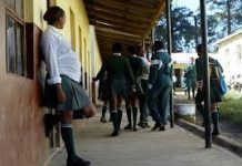 Photo- A pregnant student. Kenya is grappling with high cases of pregnancies among students.