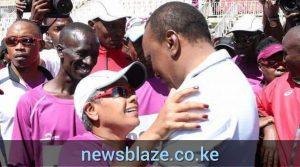 H.E the President, Uhuru Kenyatta, and first lady, Margaret