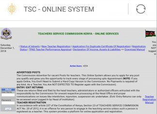 TSC Online Home Page