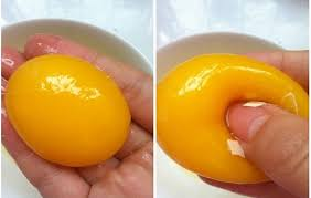 Plastic eggs' yolk (Image courtesy of Youtube)
