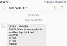 Scammer on Barclays Bank's Timiza loan product