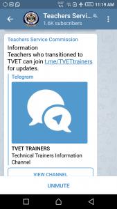 TSC on Telegram