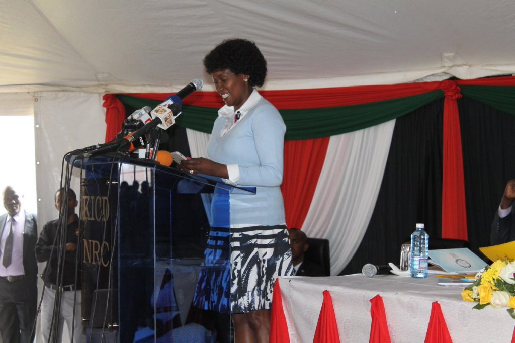 TSC boss, Nancy Macharia. She says the Commission has interdicted 5 teachers for the 2018 KCSE exam related Malpractices