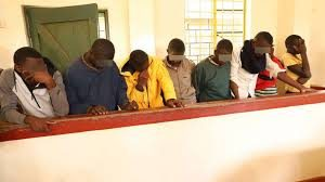 The arrested Ambira boys when they appeared before the court, last week. The boys will be freed as there is no evidence to indiscriminate them