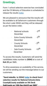 Presser- Ministry of Education's Update on the form one selection exercise